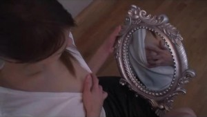 mirror and caresses for a hot
