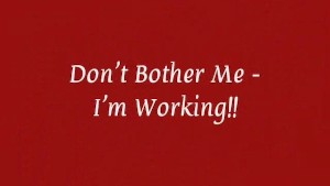 Don't Bother Me - I'm Working!