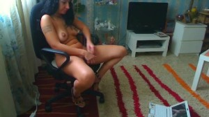sexy milf playing while watchi