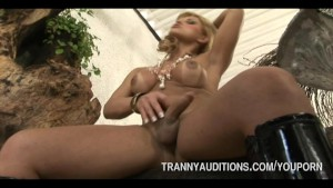 Blonde Tranny Auditions For Porn