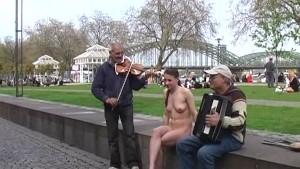 Crazy Tanja nude in public