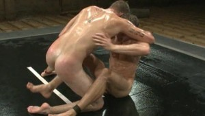 Wrestling stimulates their cumshots!