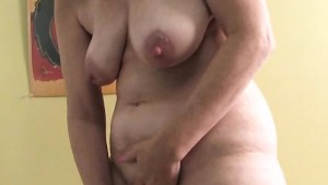 Horny housewife mature masturb