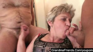 Husband and younger lover sharing old wife