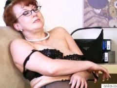 - Horny Busty Redhead Mi...