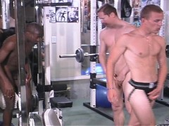 Picture Bulging in the pants in the weight room pt 1...