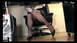 Under desk voyeur cam masturbation