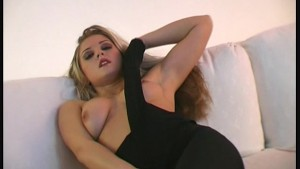 Booby Pornstar spreading pussy in nylons