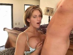 Big titted girl give handjob