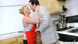 Ginger Lynn Housewife Fucks In Kitchen
