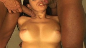 Horny brunette blows the boys