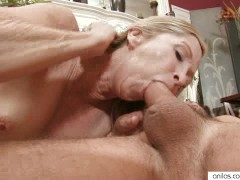 Cougar Seduces Young Stud With A Great Blowjob