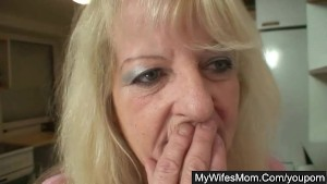 Hot granny fucked by young guy
