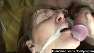 Two cocks for mature lawyer lady