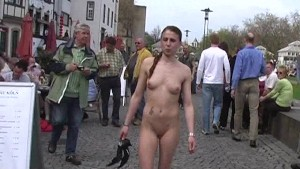 Hot public nudity with sweet tanja