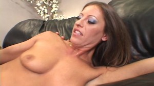 Pretty in pink gets her ass filled with cock