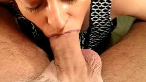 She Sucks Out His Cum!