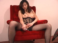 Hot Asian girl and her dildos