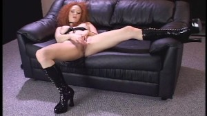 Red head enjoys herself