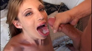 Brandi Lyons tongue full of cum