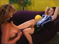 Blondie offering herself to her mistress