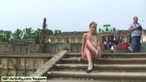 Lenja - Hot German Blonde Nude In Public