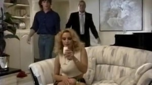 Sexy bridesmaid gets dp in a threesome