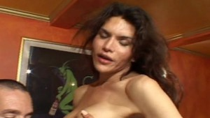 Busty shemale cums on BF