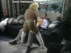 Slutty blonde stripper in hardcore anal