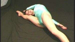 Stretching ballerina Abena