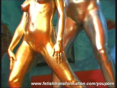 Picture Lesian duo complete painted in golden color