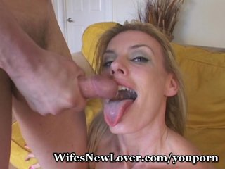 Wife swallows another mans cum