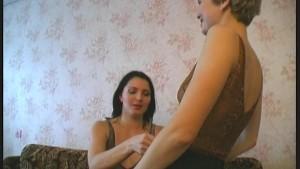 Lesbian couple stripping flexible