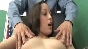 Sweet chick gets fucked by her bf