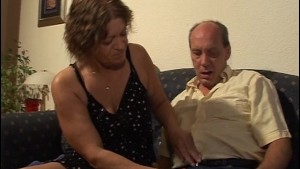 Mature guy loves her big tits