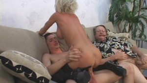 Older MILF Pleasured By Young