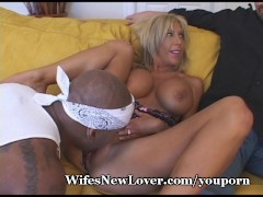 Busty MILF's New Black Lover