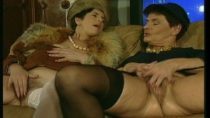 Horny old ladies lick and kiss each other