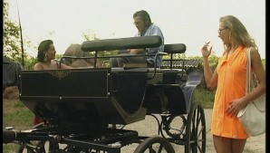 Two ladies get a ride but not on a wagon