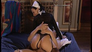 The maid wakes up her boss in