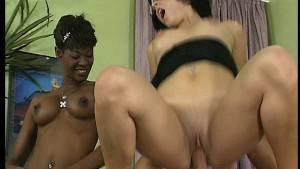 Hot black chick gets fucked on