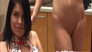 Perfect lady's orgasm goes b