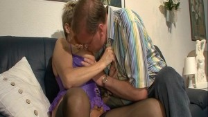 Older couple suck and lick one