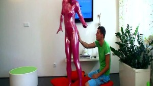 Spandex fetish girl blow and f
