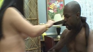 Asian girl and black guy play