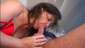 Older lady gets a dick in her