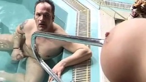 Big Tits fucked by the Pool!!