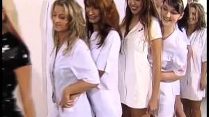 8 horny Nurses fucking a Patie
