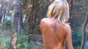 Chloe naked in the woods