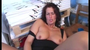 Masturbating in the storeroom